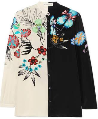 Etro Floral-print Silk Shirt - Black