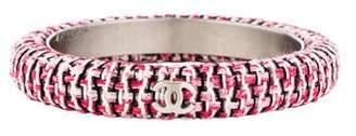 Chanel Tweed Narrow Bangle