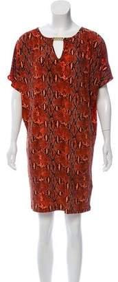 MICHAEL Michael Kors Python Print Mini Dress w/ Tags