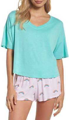 Honeydew Intimates Rayon Tee & Woven Short Pajamas