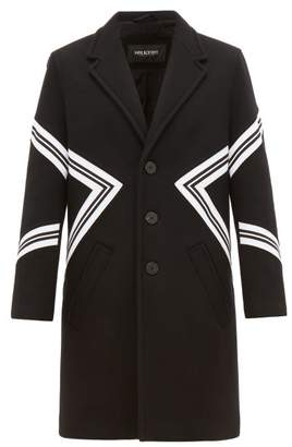 Neil Barrett Modernist Single Breasted Wool Blend Coat - Mens - Black
