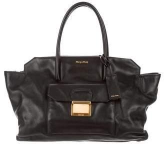 Miu Miu Leather Convertible Satchel
