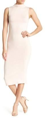Soprano Mock Neck Sheath Midi Dress
