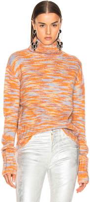 Sies Marjan Parker Turtleneck Sweater in Peach, Lime & Blue | FWRD