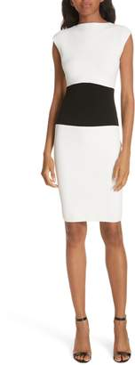 Milly Bateau Colorblock Stretch Sheath Dress