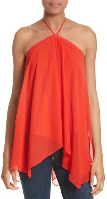 Women's Alice + Olivia Tish Chiffon Halter Top $225 thestylecure.com