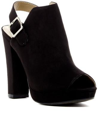 Report Libbie Peep Toe Platform Mule $60 thestylecure.com