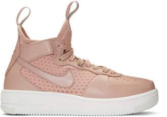 Nike Pink Air Force 1 Mid Ultraforce Sneakers