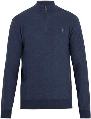 Polo Ralph Lauren Half-zip logo-embroidered pima-cotton sweater