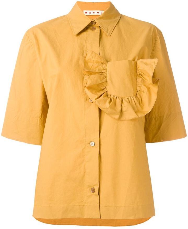 MarniMarni ruffle pocket shirt