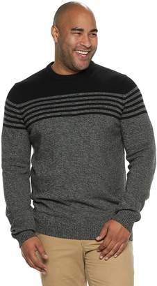 Izod Big & Tall Newport Striped Sweater