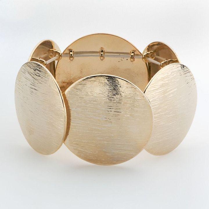 Daisy fuentes® gold-tone disc flex bracelet
