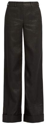 Dodo Bar Or - Zoe Mid Rise Wide Leg Jacquard Trousers - Womens - Black