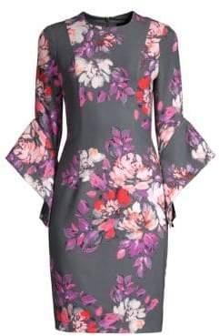 Black Halo Lorie Floral Sheath Dress