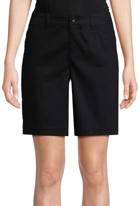 ST. JOHN'S BAY 10 Woven Bermuda Shorts-Petite