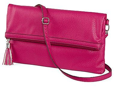 JCPenney Cosmopolitan Spice Leather Clutch