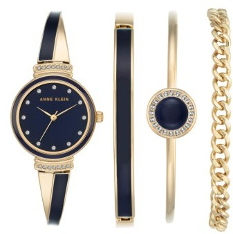 Anne Klein Women's Anne Klein Bangle Watch & Bracelet Set, 26Mm