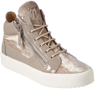 Giuseppe Zanotti Velvet & Patent Sneaker