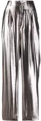 Indress metallic wide-leg trousers