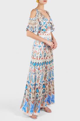 Temperley London Quartz Printed Long Dress