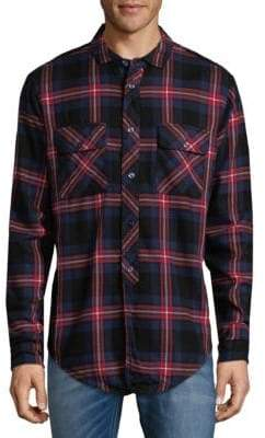 PRPS Plaid Cotton Button-Down Shirt
