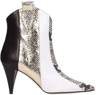 eb8b1580f3 Marc Ellis Tex Black White Ankle Boots