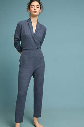 Eri + Ali Brushed Fleece Surplice Jumpsuit