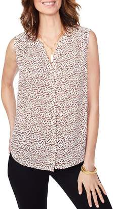 NYDJ Sleeveless Leopard-Print Blouse