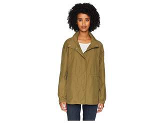 Eileen Fisher Light Organic Cotton Stand Collar Jacket