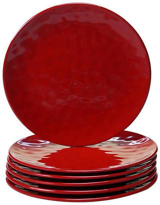 One Kings Lane Set of 6 Wayne Melamine Salad Plates - Red