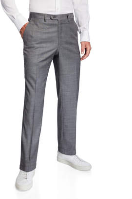 Brioni Men's Light Sharkskin Dress Pants