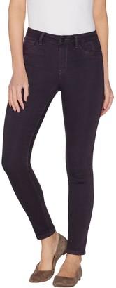 Laurie Felt Silky Denim Overdyed Skinny Pull-On Jeans