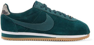 Nike A.l.c. Classic Cortez Suede Sneakers - Petrol