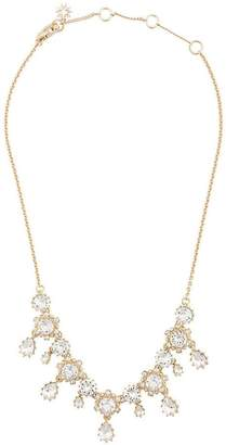 Marchesa crystal floral necklace