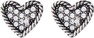 Marc Jacobs Silver-Tone Heart-Shaped Stud Earrings