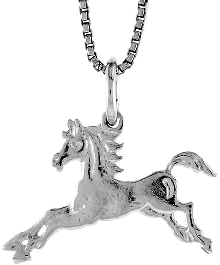 Sabrina Silver Sterling Silver Teeny Horse Pendant, 1/2 inch Tall