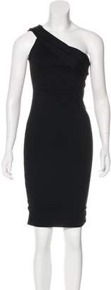 Michelle Mason One-Shoulder Mini Dress