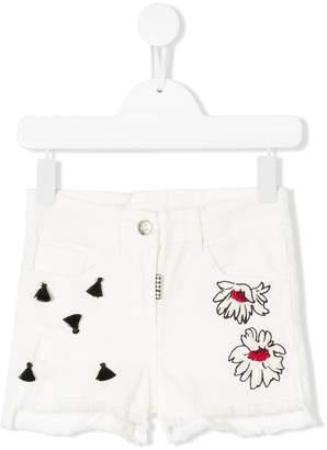 MonnaLisa embroidered denim shorts