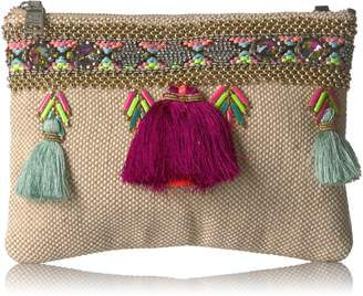 6144208fe99c at Amazon Canada · Steve Madden Marcia Tassels Embroidered Boho Fabric  Clutch Crossbody