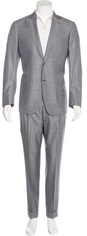 Brioni Brioni Mayfair Wool & Silk Plaid Suit