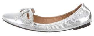 Marc Jacobs Metallic Leather Bow Flats Metallic Metallic Leather Bow Flats