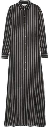 Lanvin Crystal-Embellished Striped Silk-Chiffon Tunic