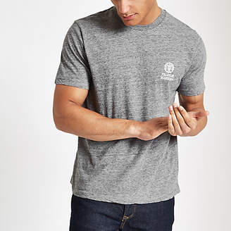 River Island Franklin and Marshall grey chest logo T-shirt