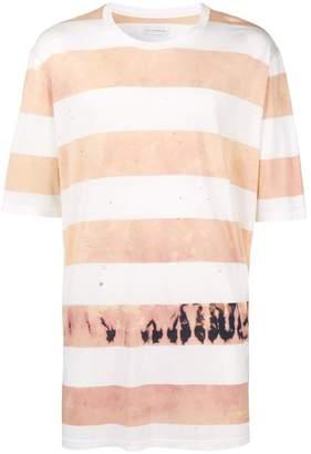 Faith Connexion tie dye striped T-shirt