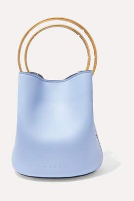 Marni Pannier Small Leather Bucket Bag - Blue