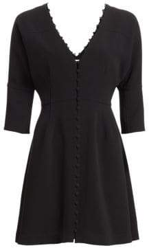 Cinq à Sept Joslyn Buttoned Fit-&-Flare Dress