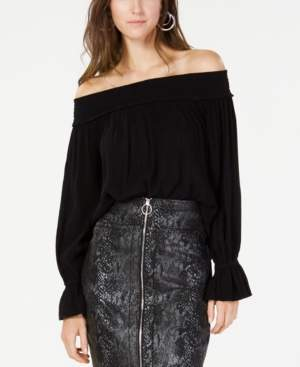 INC International Concepts I.n.c. Smocked Off-The-Shoulder Top, Created for Macy's