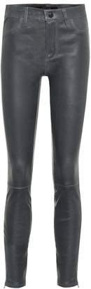 J Brand Mid-rise skinny leather leggings