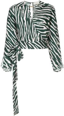 Ginger & Smart Emperor zebra print wrap top