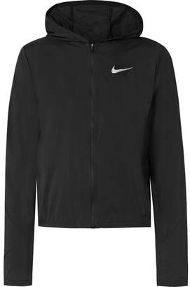 Nike Shield Convertible Hooded Ripstop Jacket - Black
